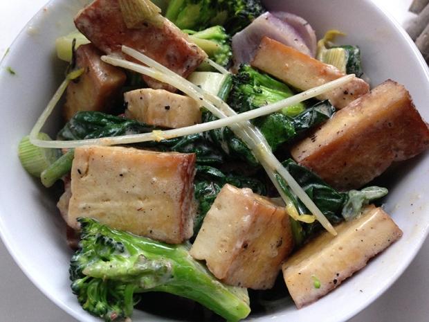 Schnelle Tofu Pfanne