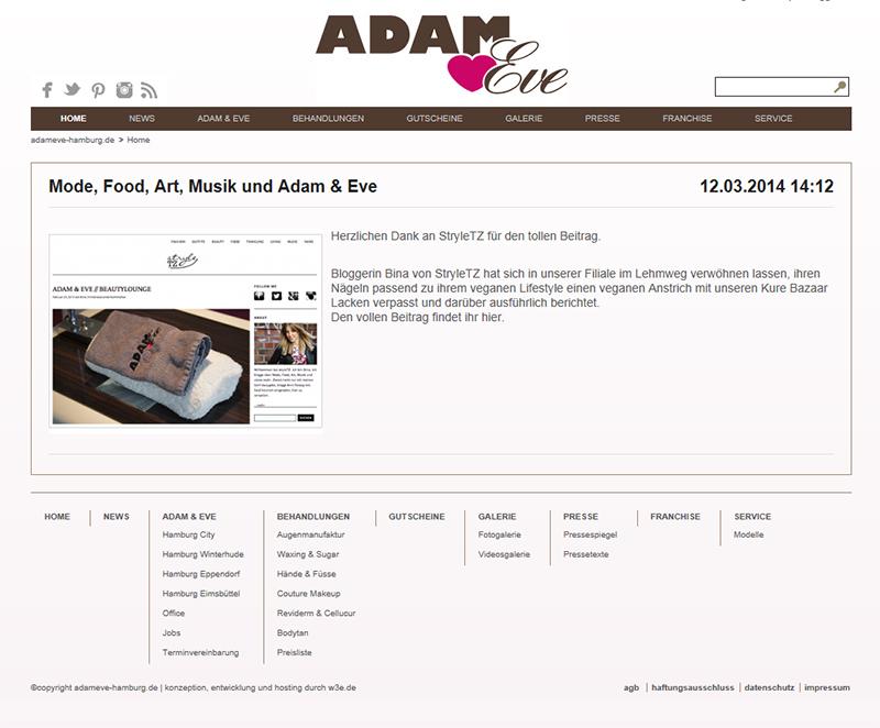 Adam & Eve Presse