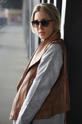Outfit-Post: Die Lederweste
