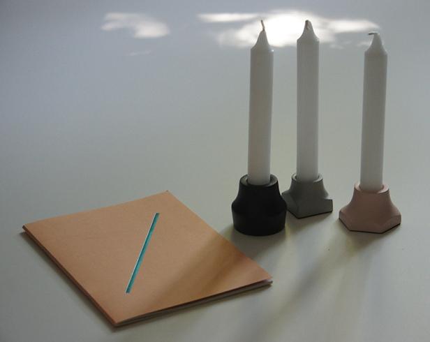 Kerzenständer und Notizbuch von Anni