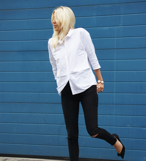 Outfit-Post: Weisse Bluse